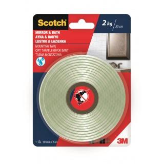 Taśma montażowa SCOTCH®, łazienka, 19mm x 5m, biała, Taśmy specjalne, Drobne akcesoria biurowe