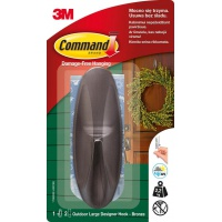 Reusable hook, COMMAND™ Outdoor (17083BZ-AWCEE), large, graphite