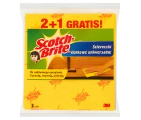 Household cleaning cloths, SCOTCH BRITE™, 2+1 pcs, yellow