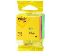 Mini Kostka samoprzylepna POST-IT® (2012-MUC), 51x51mm, 1x400 kart., mix kolorów, Bloczki samoprzylepne, Papier i etykiety