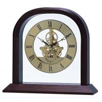 Zegarek z imitacją mechanizmu Bestar orzech i złoty, Zegary, Wyposażenie biura
