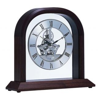 Zegarek z imitacją mechanizmu Bestar orzech i srebrny, Zegary, Wyposażenie biura