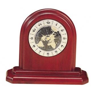 Duży zaokrąglony zegar Bestar mahoń, Zegary, Wyposażenie biura