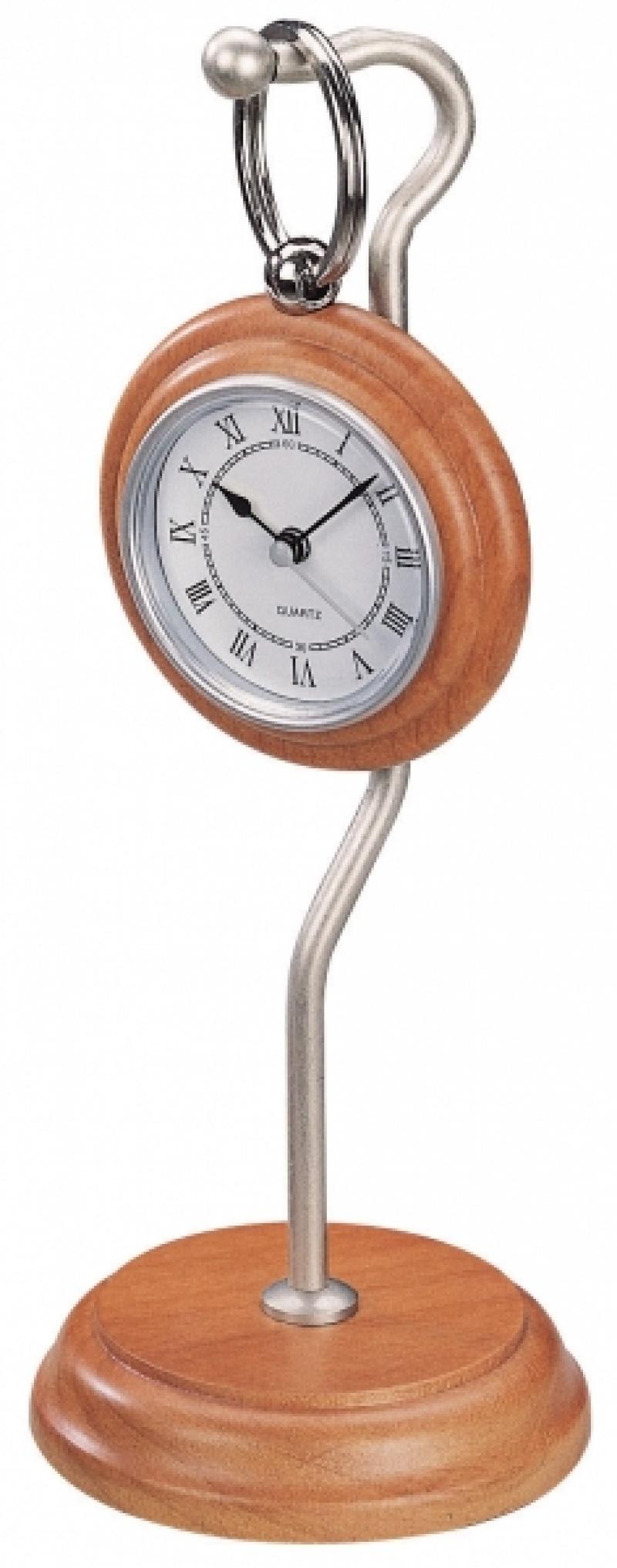 Zegarek kieszonkowy ze stojakiem Bestar jasna wiśnia, Zegary, Wyposażenie biura