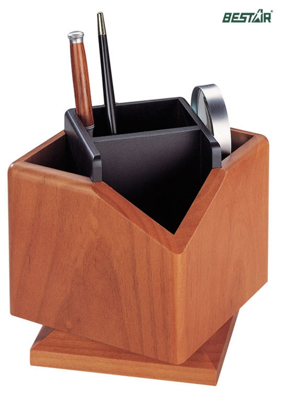 Obrotowy pojemnik na przybory Bestar jasna wiśnia, Przyborniki na biurko, Drobne akcesoria biurowe