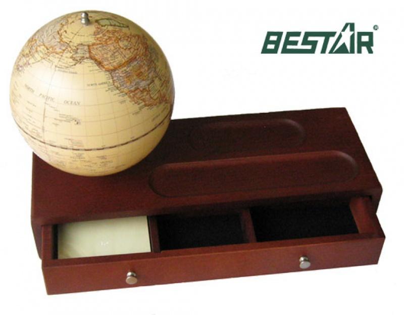 """Globus 5"""" W szkatułka Bestar ciemna wiśnia, Globusy, Wyposażenie biura"""