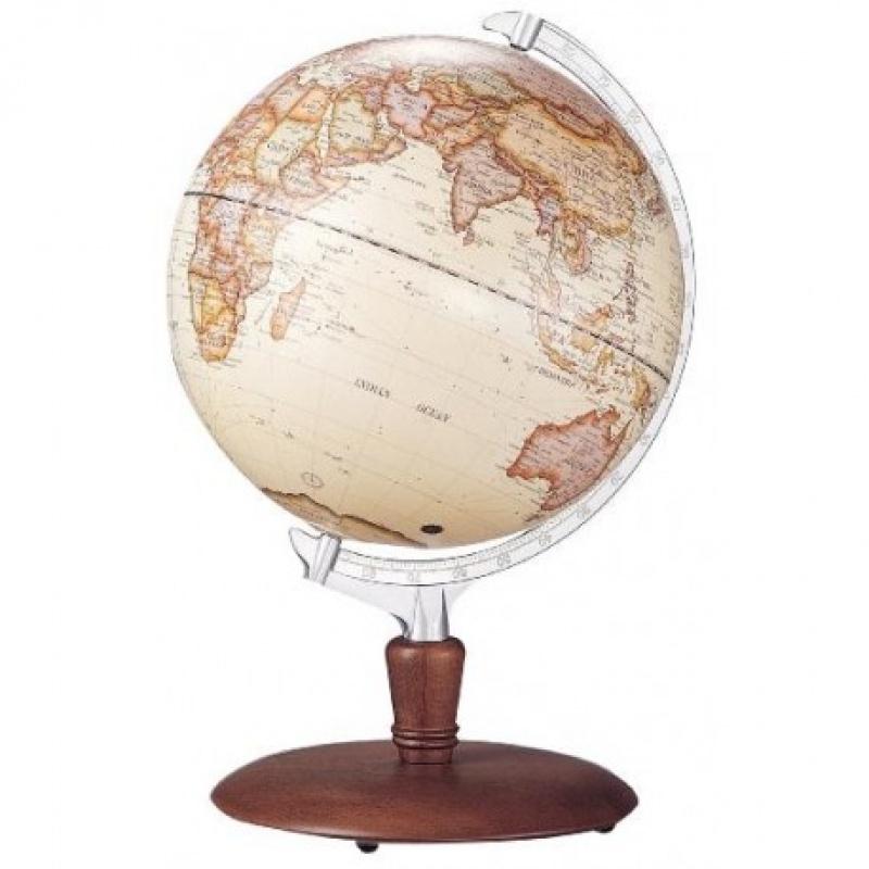 """Globus 12"""" podświetlany Bestar orzech, Globusy, Wyposażenie biura"""