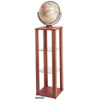 """Globus podłogowy 12"""" z półkami Bestar jasna wiśnia, Globusy, Wyposażenie biura"""