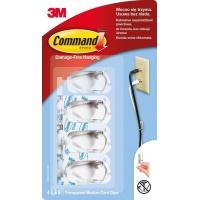 Uchwyty do kabli COMMAND™ (17301 PL), średnie, białe, Haczyki, Prezentacja
