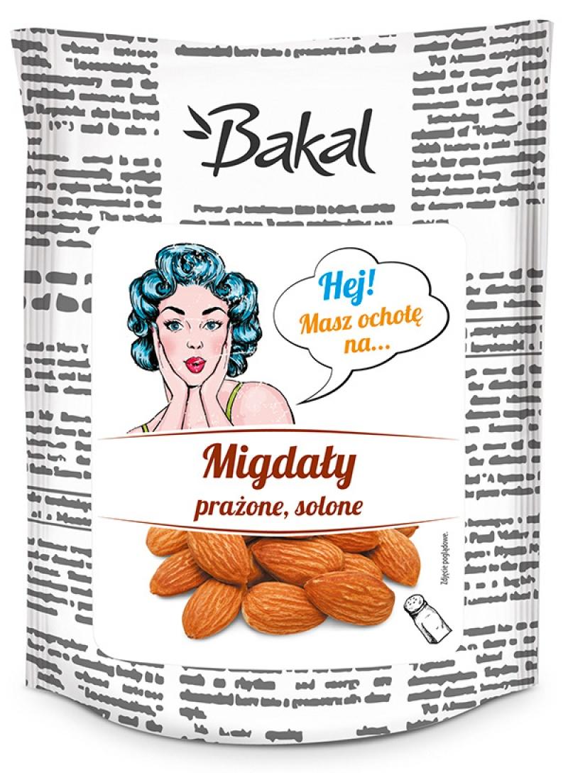 Migdały prażone solone BAKAL Vintage, 100g, Przekąski, Artykuły spożywcze