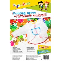 Pinting apron GIMBOO, size: 3-6 years, transparent