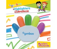 Highlighter GIMBOO, hand-shaped, blister pacaking, assorted colors