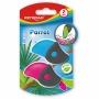 Gumka uniwersalna KEYROAD Parrot, 2szt., blister, mix kolorów, Plastyka, Artykuły szkolne
