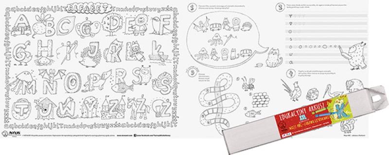 Arkusz edukacyjny MONUMI Moje ABC, Produkty kreatywne, Artykuły szkolne