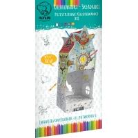 Kolorowanka-składanka MONUMI Domek ul. Potworna 6, Produkty kreatywne, Artykuły szkolne