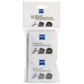 Chusteczki do czyszczenia okularów i wyświetlaczy ZEISS, 10 szt., białe, Środki czyszczące, Akcesoria komputerowe
