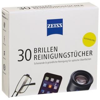 Chusteczki do czyszczenia okularów i wyświetlaczy ZEISS, 30 szt., białe, Środki czyszczące, Akcesoria komputerowe