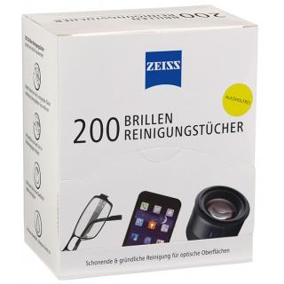 Chusteczki do czyszczenia okularów i wyświetlaczy ZEISS, 200 szt., białe, Środki czyszczące, Akcesoria komputerowe
