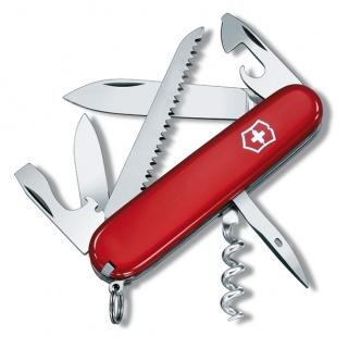 Scyzoryk VICTORINOX Camper, celidor, 91mm, czerwony, Scyzoryki, Ochrona indywidualna