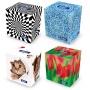 Chusteczki kosmetyczne celulozowe VELVET Cube, 2-warstwowe, 70 listków, biały, Ręczniki papierowe i dozowniki, Artykuły higieniczne i dozowniki