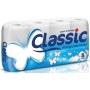 Papier toaletowy celulozowy CLASSIC, 2-warstwowy, 144 listki, 8szt., biały, Papiery toaletowe i dozowniki, Artykuły higieniczne i dozowniki