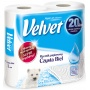 Ręczniki w roli celulozowe VELVET Czysta Biel, 2-warstwowe, 54 listków, 2szt., białe, Ręczniki papierowe i dozowniki, Artykuły higieniczne i dozowniki