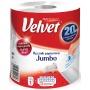 Ręcznik w roli celulozowy VELVET Jumbo, 2-warstwowy, 520 listków, biały