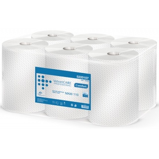 Ręczniki w roli celulozowe VELVET Profesional Maxi, 2-warstwowe, 478 listków, 6szt., białe, Ręczniki papierowe i dozowniki, Artykuły higieniczne i dozowniki