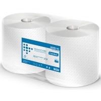 Czyściwo przemysłowe VELVET Profesional, 2-warstwowe, 1000 listków, 250m, 2szt., białe, Ręczniki papierowe i dozowniki, Artykuły higieniczne i dozowniki