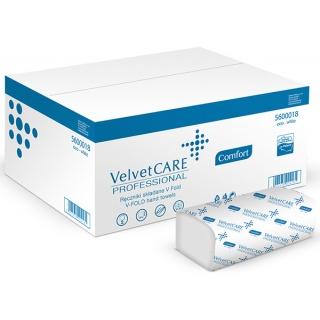 Ręczniki składane ZZ eco-white VELVET Profesional, 2-warstwowe, 3000 listków, 20szt., białe, Ręczniki papierowe i dozowniki, Artykuły higieniczne i dozowniki