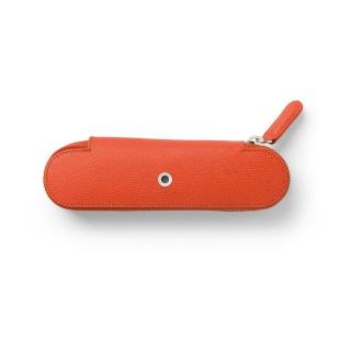 Skórzane etui na dwa przybory do pisania marki Graf von Faber-Castell z kolekcji Epsom, kolor Burned Orange, Etui, Artykuły do pisania i korygowania