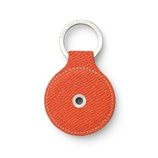 Skórzany okrągły brelok na klucze marki Graf von Faber-Castell, kolor Burned Orange, Breloki, Galanteria skórzana