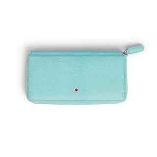 Skórzany portfel damski marki Graf von Faber-Castell z kolekcji Epsom, kolor Turquoise, Portfele, Galanteria skórzana
