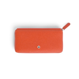 Skórzany portfel damski marki Graf von Faber-Castell z kolekcji Epsom, kolor Burned Orange, Portfele, Galanteria skórzana