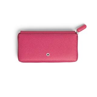 Skórzany portfel damski marki Graf von Faber-Castell z kolekcji Epsom, kolor Electric Pink, Portfele, Galanteria skórzana