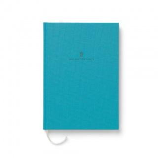 Notes w lnianej oprawie marki Graf von Faber-Castell, kolor Turquoise, format A5, Notatniki, Papier i galanteria papiernicza