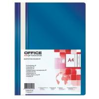 Skoroszyt OFFICE PRODUCTS, PP, A4, miękki, 100/170mikr., granatowy, Skoroszyty podstawowe, Archiwizacja dokumentów