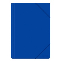 Elasticated File OFFICE PRODUCTS, PP, A4, 500 micr., blue
