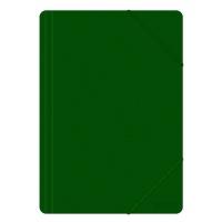 Teczka z gumką OFFICE PRODUCTS, A4, PP, 500mikr., 3-skrz., zielona, Teczki płaskie, Archiwizacja dokumentów