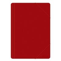 Teczka z gumką OFFICE PRODUCTS, A4, PP, 500mikr., 3-skrz., czerwona, Teczki płaskie, Archiwizacja dokumentów