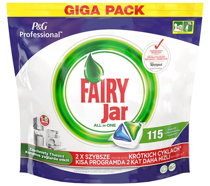 Tabletki do zmywarki FAIRY JAR, profesjonalne, 115 szt., Środki czyszczące, Artykuły higieniczne i dozowniki