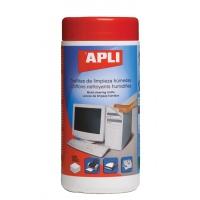 Ściereczki do czyszczenia obudów APLI, tuba, 100szt., Środki czyszczące, Akcesoria komputerowe