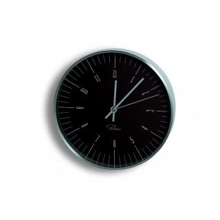 Zegar ścienny czarny Philippi, Zegary, Wyposażenie biura