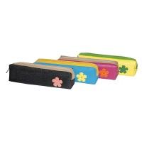 Piórnik-tuba GIMBOO, z kwiatkiem, mix kolorów, Piórniki, Artykuły szkolne