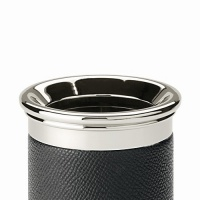 Stalowy kubek na przybory do pisania marki Graf von Faber-Castell, czarne wykończenia, Przyborniki na biurko, Drobne akcesoria biurowe