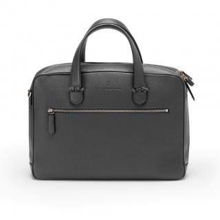 Aktówka jednokomorowa marki Graf von Faber-Castell z kolekcji Cashmere Black, Aktówki i torby, Akcesoria osobiste