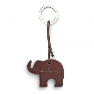 Brelok do kluczy Elephant marki Graf von Faber-Castell, kolor ciemno brązowy, Breloki, Akcesoria osobiste