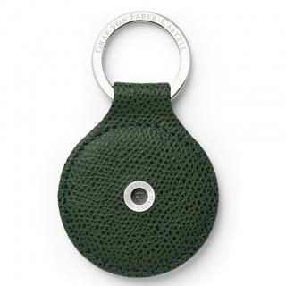 Skórzany okrągły brelok na klucze marki Graf von Faber-Castell, kolor Olive Green, Breloki, Akcesoria osobiste