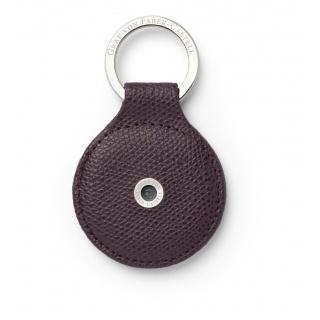 Skórzany okrągły brelok na klucze marki Graf von Faber-Castell, kolor Violet Blue, Breloki, Akcesoria osobiste