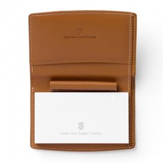 Notes mini marki Graf von Faber-Castell z kolekcji Epsom Cognac z miejscem na długopis Pocket, Notatniki, Papier i galanteria papiernicza